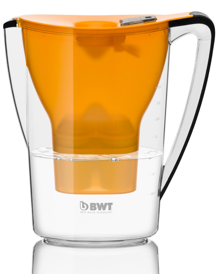 Water filter jug Penguin 2.7 litres orange with Magnesium Mineralized Water