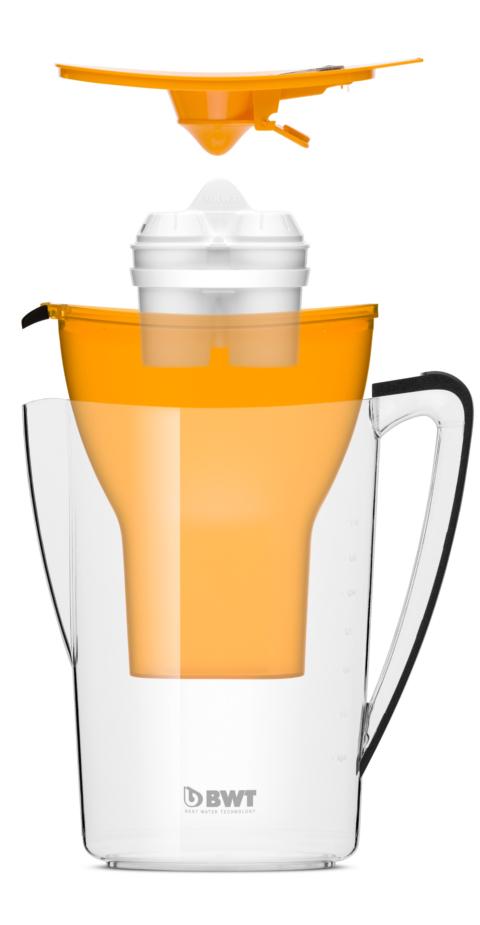Water table filter jug Penguin 2.7 litres orange